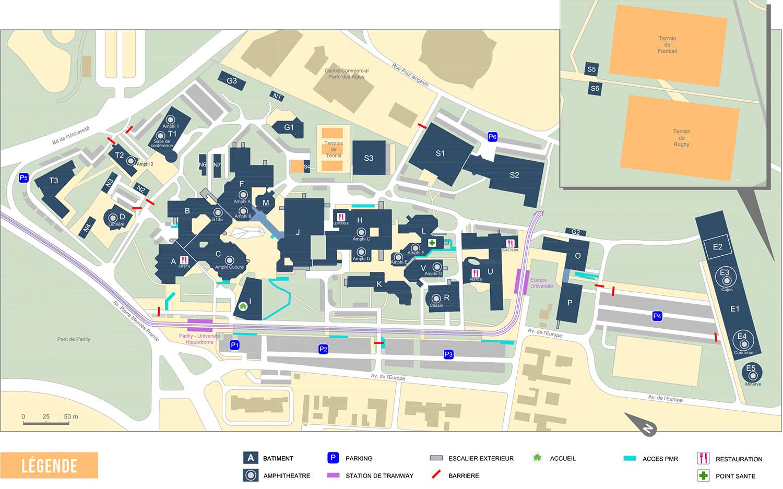 Plan Campus Porte des Alpes